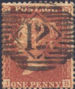 1856 1d Red SG29 Plate 29 'JB'